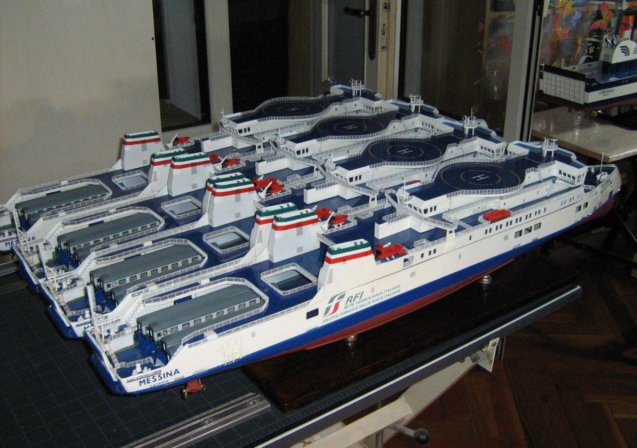 Modello traghetto ferrovie dello stato scala 1 160 pini - Modelli di scale ...